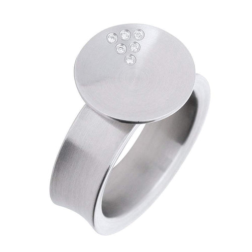 Xen Ring Xen Steel Diamond dish ring
