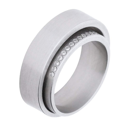 Xen Ring Xen Steel diamond double ring