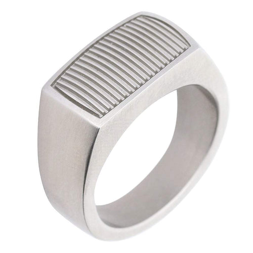 Xen Ring Xen Steel grooved rectangle ring