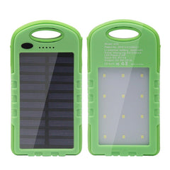 New Arrival Solar Power Bank Dual USB Powerbank 5000mAh External Battery Portable Charger Bateria Externa Pack for Mobile phone