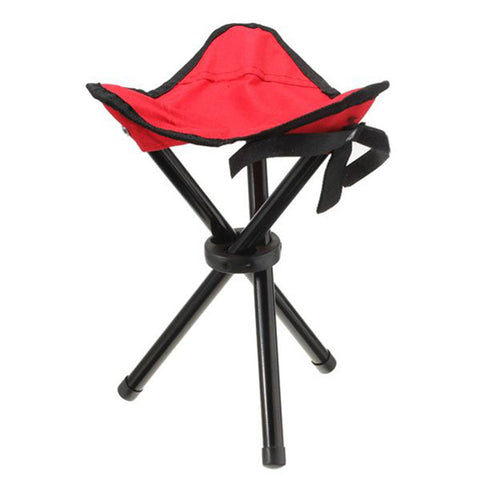 Outdoor portable lightweight Camping Hiking Fishing Folding Picnic Garden BBQ Stool Tripod Three feet Chair Seat 4 color option