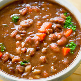 Anasazi Beans and Smoked Ham Steak or Hocks