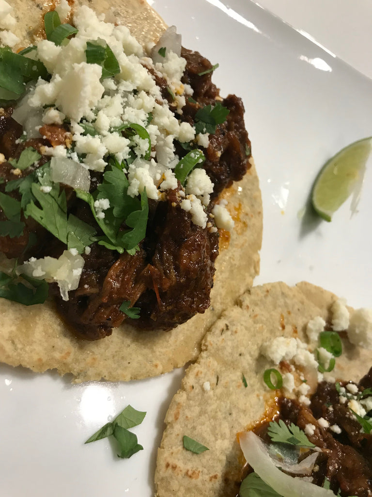 Braised Lamb or Beef Tacos