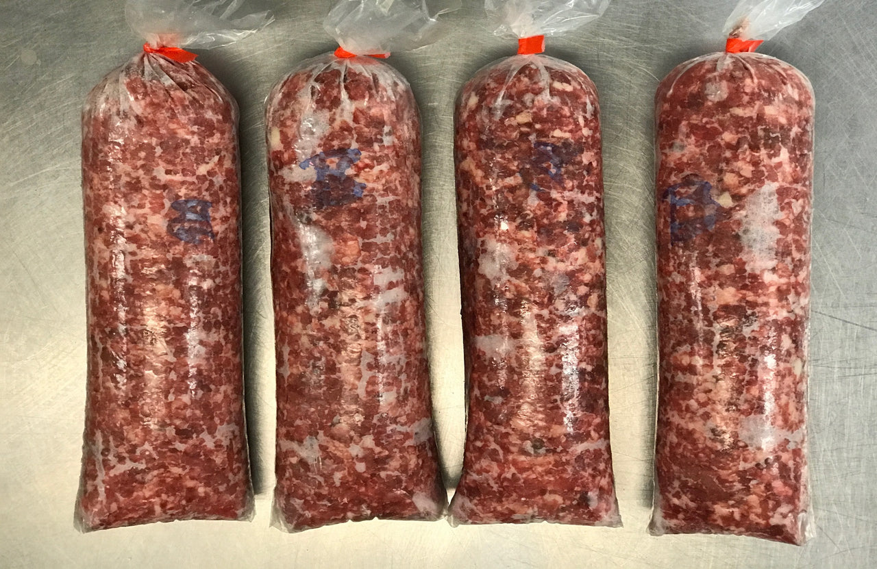 Raw Dog Food - Beef, Vegetable and Fruit 2lb Roll (Every 4 Weeks)