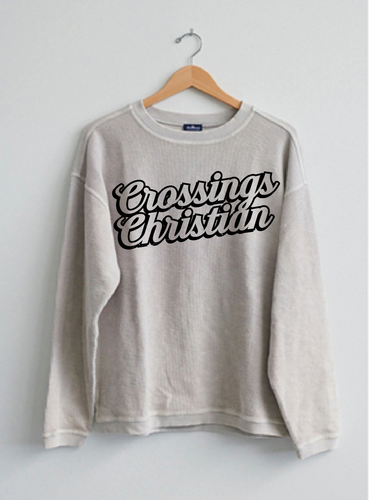 Script Crossings Christian Corduroy Crew Sweatshirt