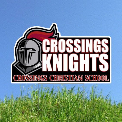 Crossings Knights Yard Sign