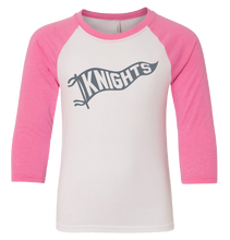 KNIGHTS Pennant Flag Baseball T-Shirt