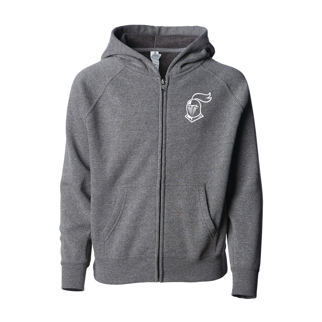 Full-Zip Cotton Hooded Sweatshirt