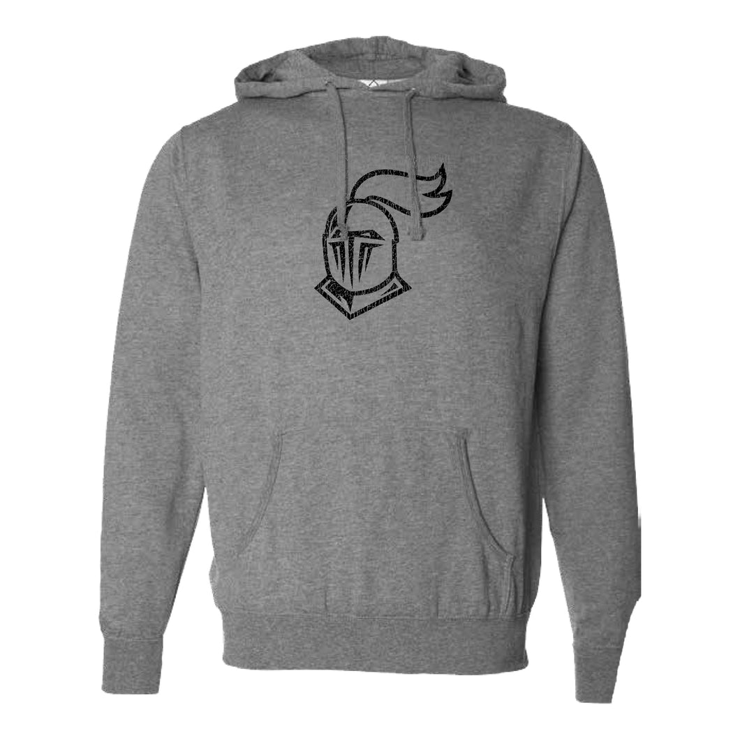 Knight Helmet Hooded Cotton Blend Sweatshirt