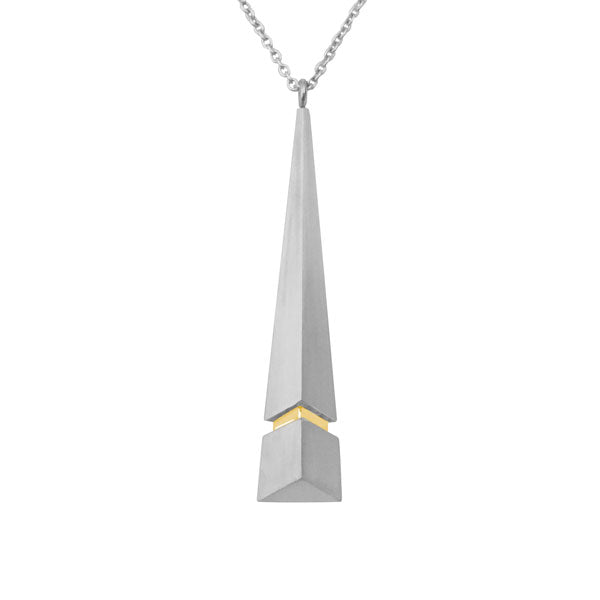 Chevron Necklace in Silver