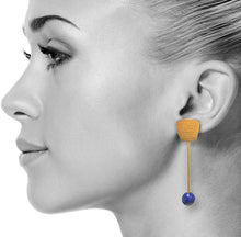 Lapis Cleo Earrings in Gold
