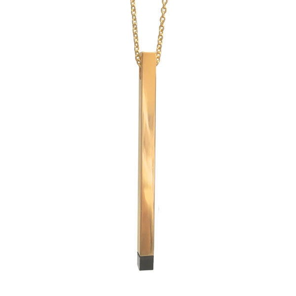 Cubic On-Point Necklace in Gold