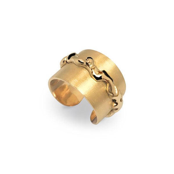 Lava Ring in Gold