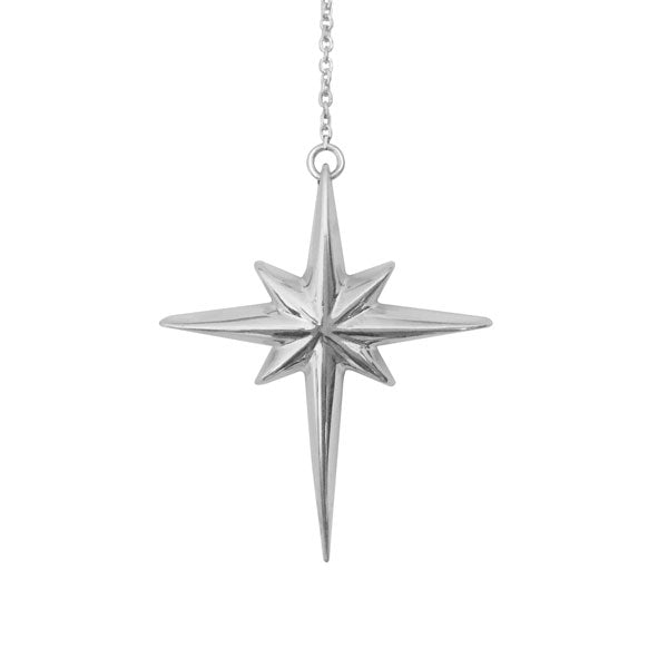North Star Necklace in Silver