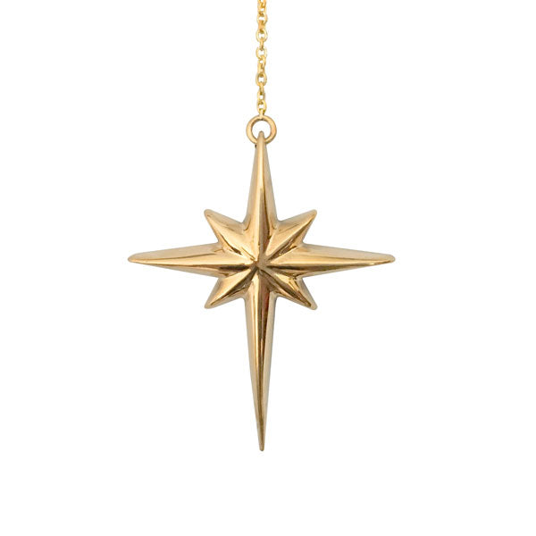 North Star Necklace in Gold