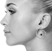 Nautilus Earrings in Silver
