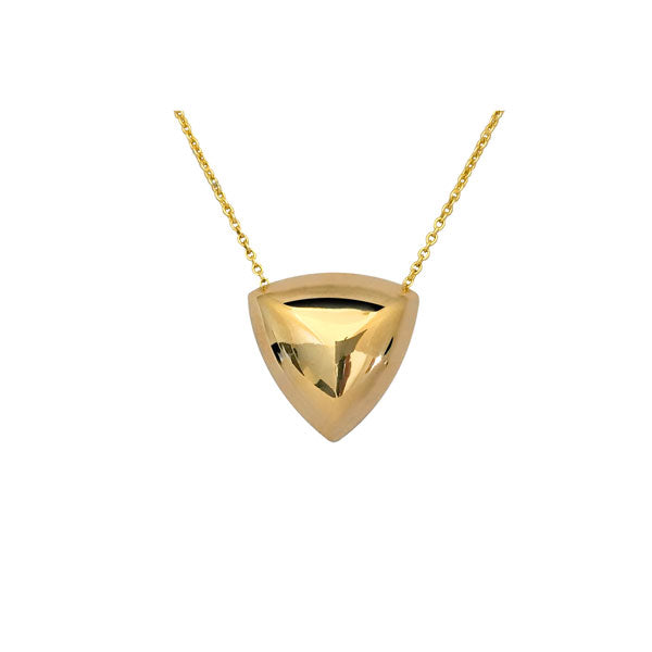 Reuleaux Necklace in Gold