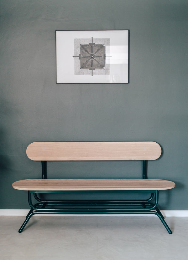 Wooden Hairpin Bench - Pedersen + Lennard