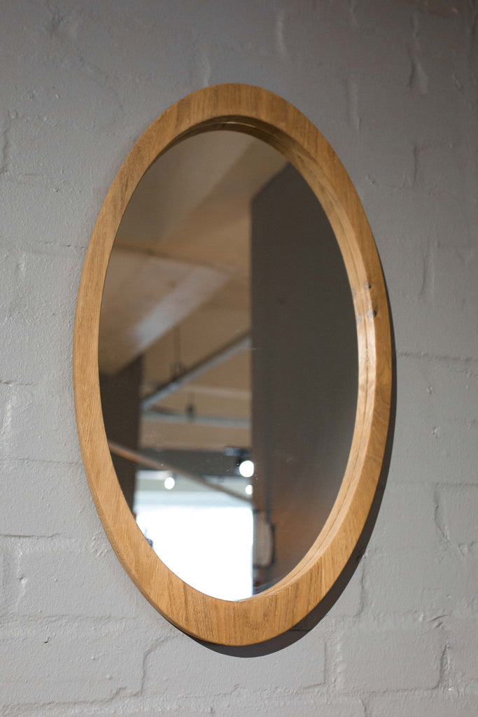 Oval Timber Mirror - Pedersen + Lennard