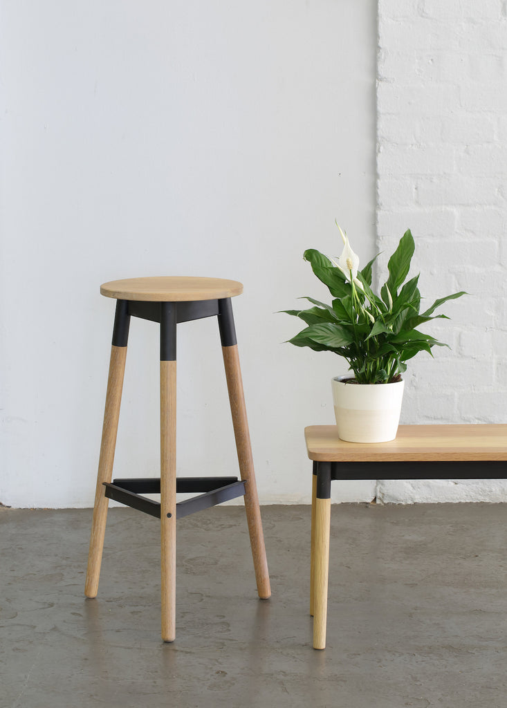 Firenze Wooden Bar Stool - Pedersen + Lennard