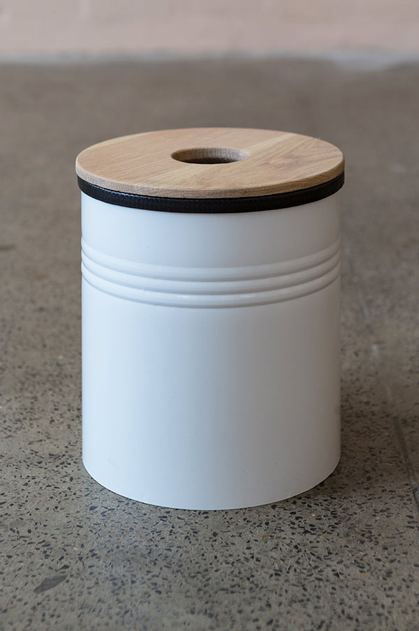 Bathroom Bin White - Pedersen + Lennard