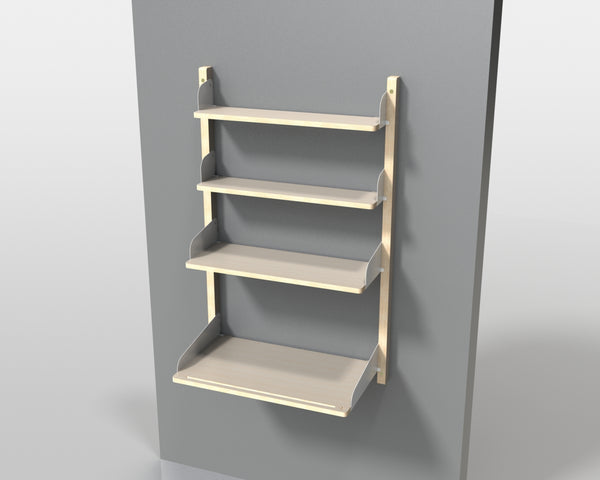 Desk Shelf - Wooden Flank - Pedersen + Lennard