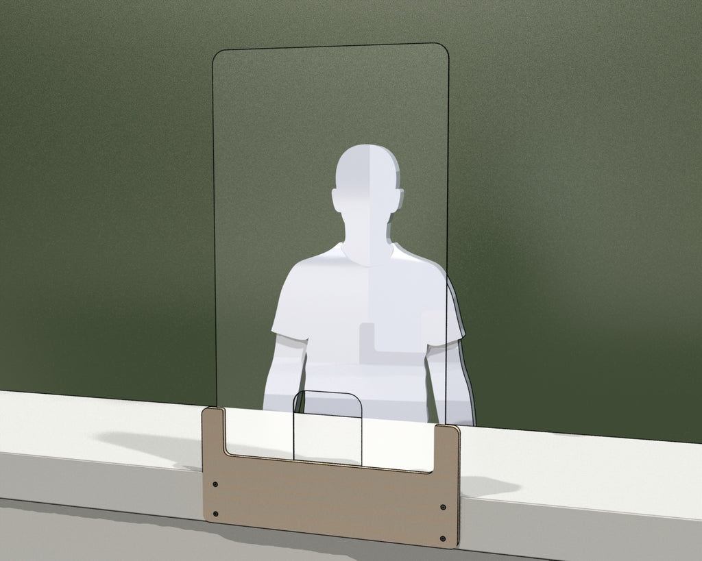 Mounted Standing Perspex Screen Sneeze Guard