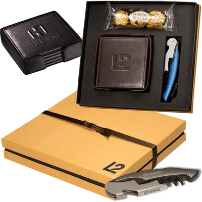 Ferrero Rocher Chocolates, Coasters & Corkscrew Set