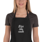 Kiss the code Embroidered Apron