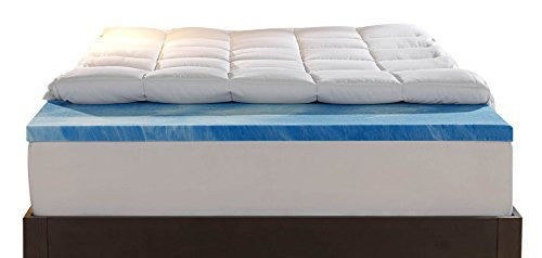 Sleep Innovations 4-Inch Dual Layer  Twin  Mattress Topper