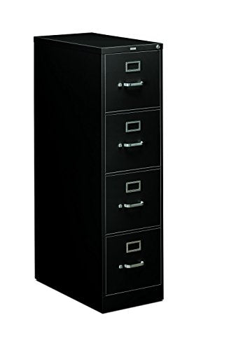 HON 4-Drawer Office Filing Cabinet - 310 Series Full-Suspension Letter File Cabinet, 26.5