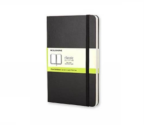Moleskine Classic Notebook, Large, Plain, Black, Hard Cover (5 x 8.25) (Classic Notebooks)
