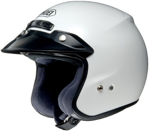 Shoei RJ Platinum R White Open Face Helmet - Large