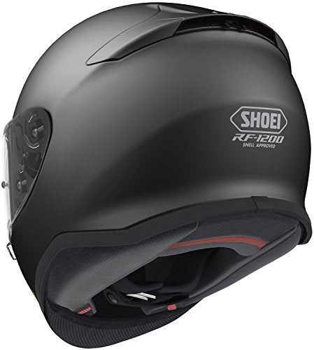 Shoei Solid RF-1200 Sports Bike Racing Motorcycle Helmet - Matte Black / Large