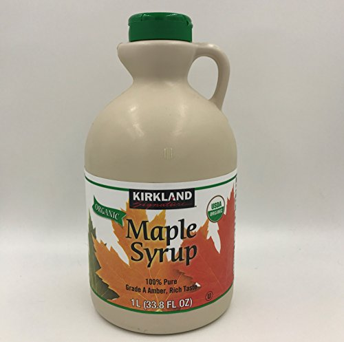 Kirkland Signature 100 Percent Maple Syrup, Dark Amber, 33.8 Fluid Ounce