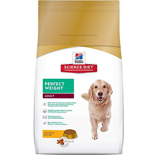 Hill's Science Diet Adult Perfect Weight Chicken Recipe Dry Dog Food, 28.5 lb bag