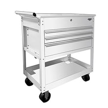"Viper Tool Storage V33UCWHR 3-Drawer Industrial Utility / Mechanics Cart, 34"", White"