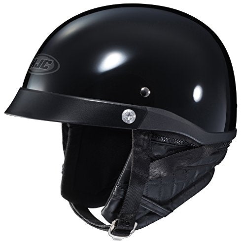 HJC CL-Ironroad Motorcycle Half-Helmet (Black, Medium)