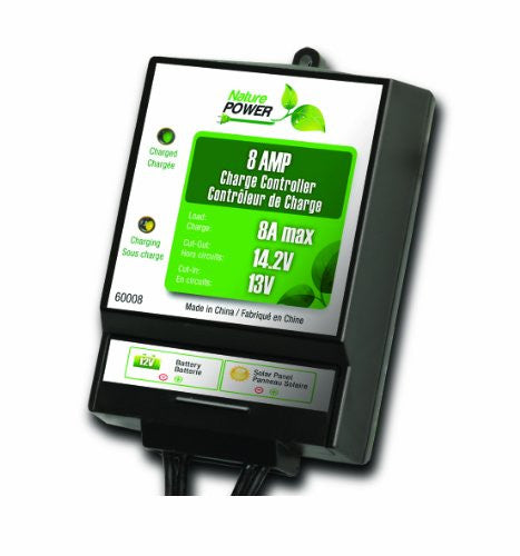 Nature Power 60008 8-Amp/130-Watt 12-Volt Solar Power Charge Controller