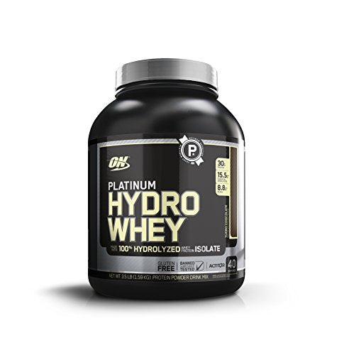 Optimum Nutrition Platinum Hydrowhey Protein Powder, 100% Hydrolyzed Whey Protein Powder, Flavor: Turbo Chocolate, 3.5 Pounds