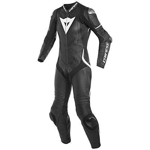 Dainese Laguna Seca 4 1-Piece Perforated Leather Ladies Suit Black/Black/White EU 40