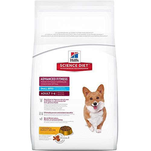 Hill's Science Diet Adult Advanced Fitness Small Bites Chicken & Barley Recipe Dry Dog Food, 17.5 lb bag
