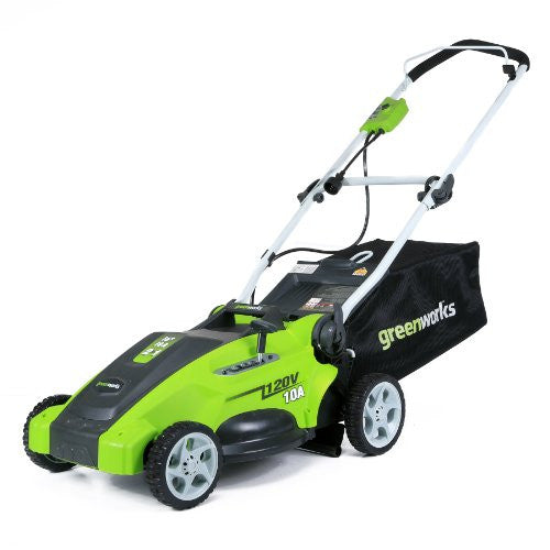 GreenWorks 25142 10 Amp 16-Inch Corded Lawn Mower