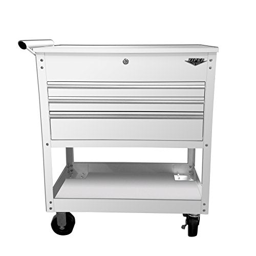 Viper Tool Storage V33UCWHR 3-Drawer Industrial Utility / Mechanics Cart, 34