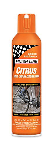 Finish Line Citrus Degreaser Bicycle Degreaser, 12-Ounce Aerosol Spray
