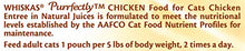 WHISKAS PURRFECTLY Chicken Wet Cat Food Chicken Entree Flavor 3 Ounces (Pack of 24)