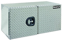 Buyers Products Diamond Tread Aluminum Underbody Truck Box w/ Barn Door (24x24x36 Inch)
