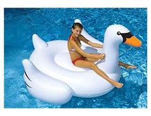 "Swimline - 75"" Giant Inflatable Swan Vinyl Float 90621"
