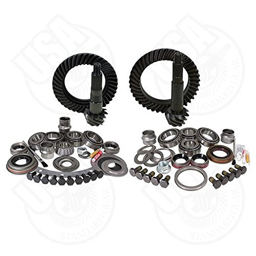 USA Standard Gear ZGK007 Ring And Pinion Set And Complete Install Kit Dana 30 Front And Dana 44 Rear 4.56 Gear Ratio Ring And Pinion Set And Complete Install Kit