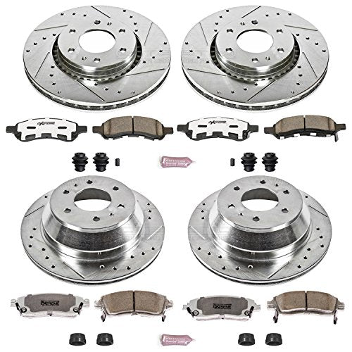 Power Stop K2060-26 1-Click Street Warrior Z26 Brake Kit